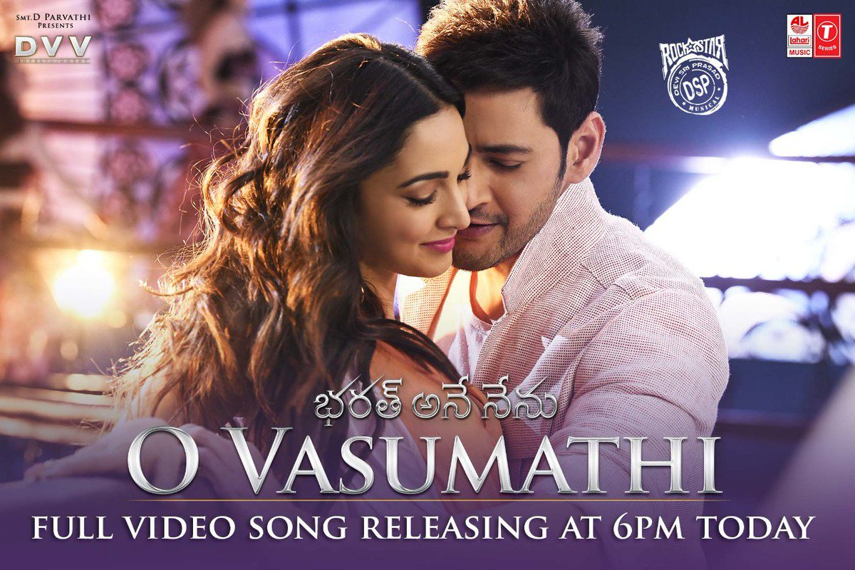 Watch O Vasumathi (From Bharat Ane Nenu) Telugu Full Video Song Web-HD 1080p