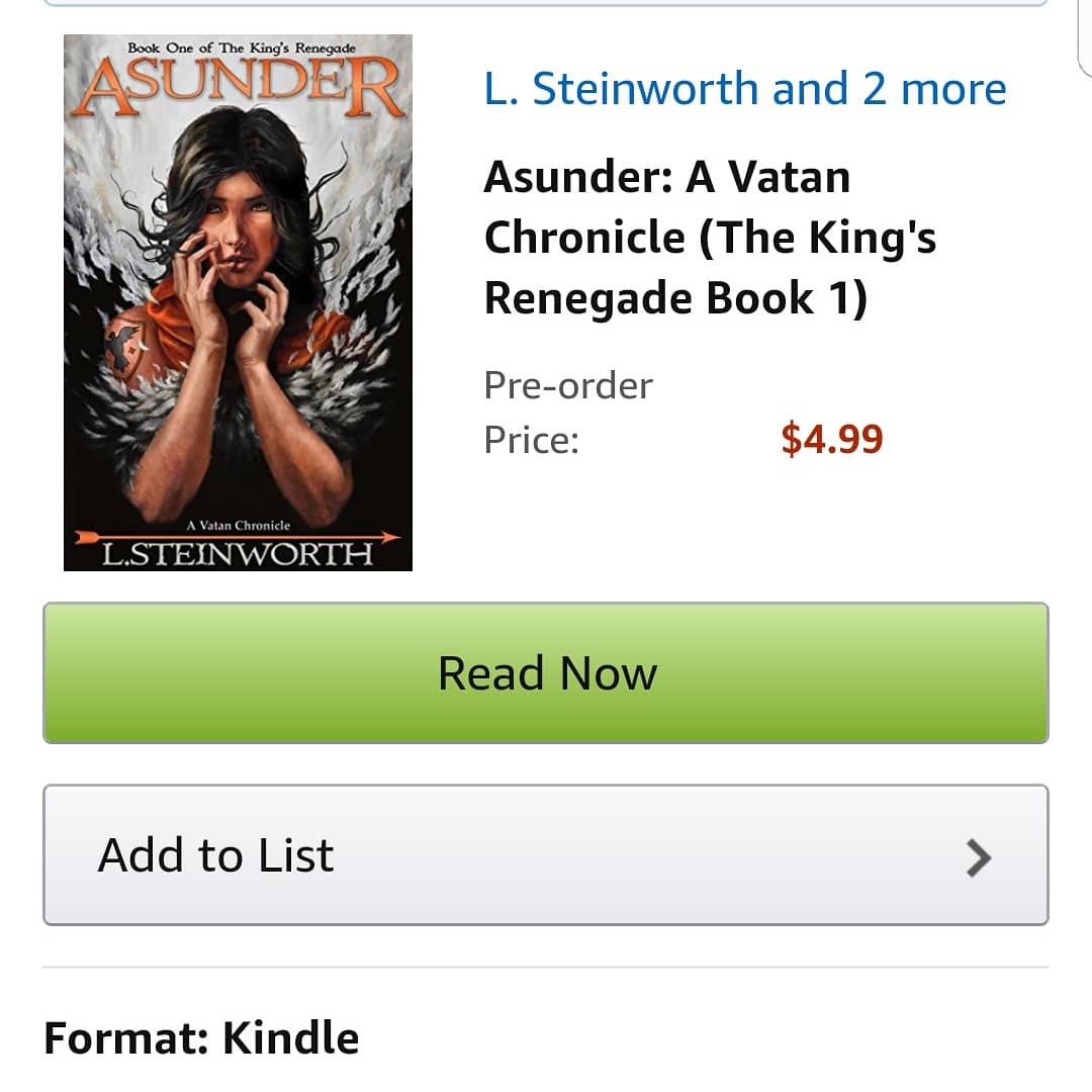 I&#39;m Now a Published Author! #thevatanchronicles  #Asunder #thekingsrenegade   https://www. amazon.com/dp/B07CWGZMGQ  &nbsp;   #fantasy  #publishedauthor #acomplished #lifegoal #goalsmet #published #bookreview  #booklover #newbook #bibliophile #avidreader #amreading #tbrpile #tbr #book #fantasybooks<br>http://pic.twitter.com/TMkXMNZgOx