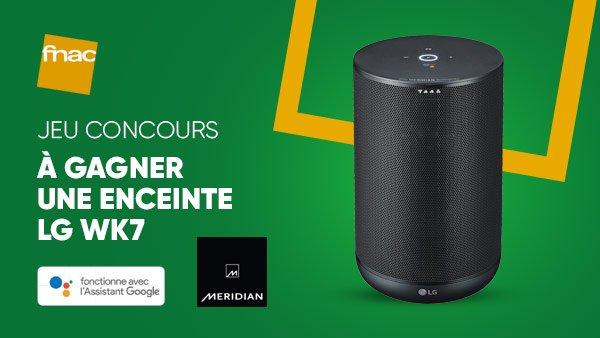 Jeu Concours 🎁 | Tentez de gagner la nouvelle enceinte intelligente @LG_France #WK7 avec Assistant Google intégré ! ➡ Pour participer RT + follow @Fnac 😀 >>https://t.co/l3FU7101d4