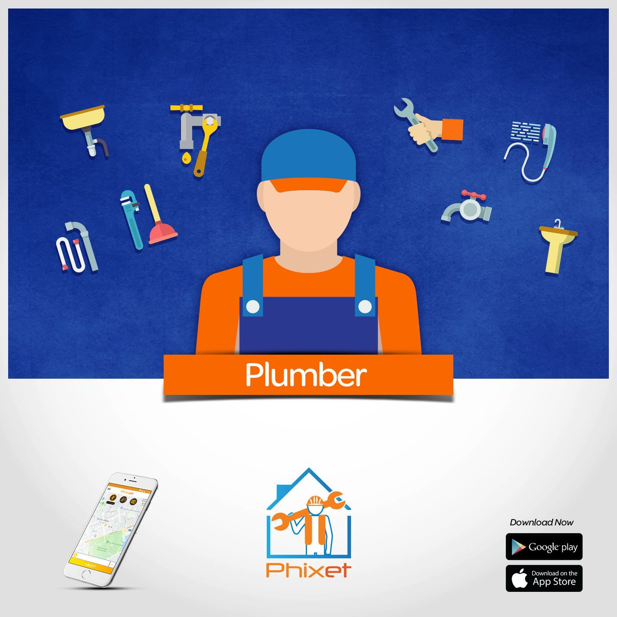 Phixet On Twitter Download Phixet App Now And Get A Plumber At Your Doorstep With Just A Few Taps Plumber Electrician Ac Technician Much More Download Phixet App Now Android Https T Co Zbqxwtswiv