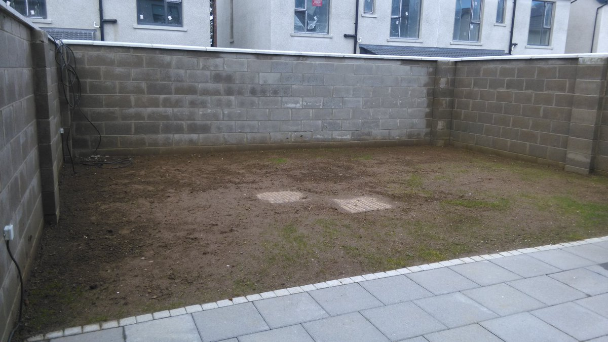 Before photo of a garden project in Knockrabo, Goatstown