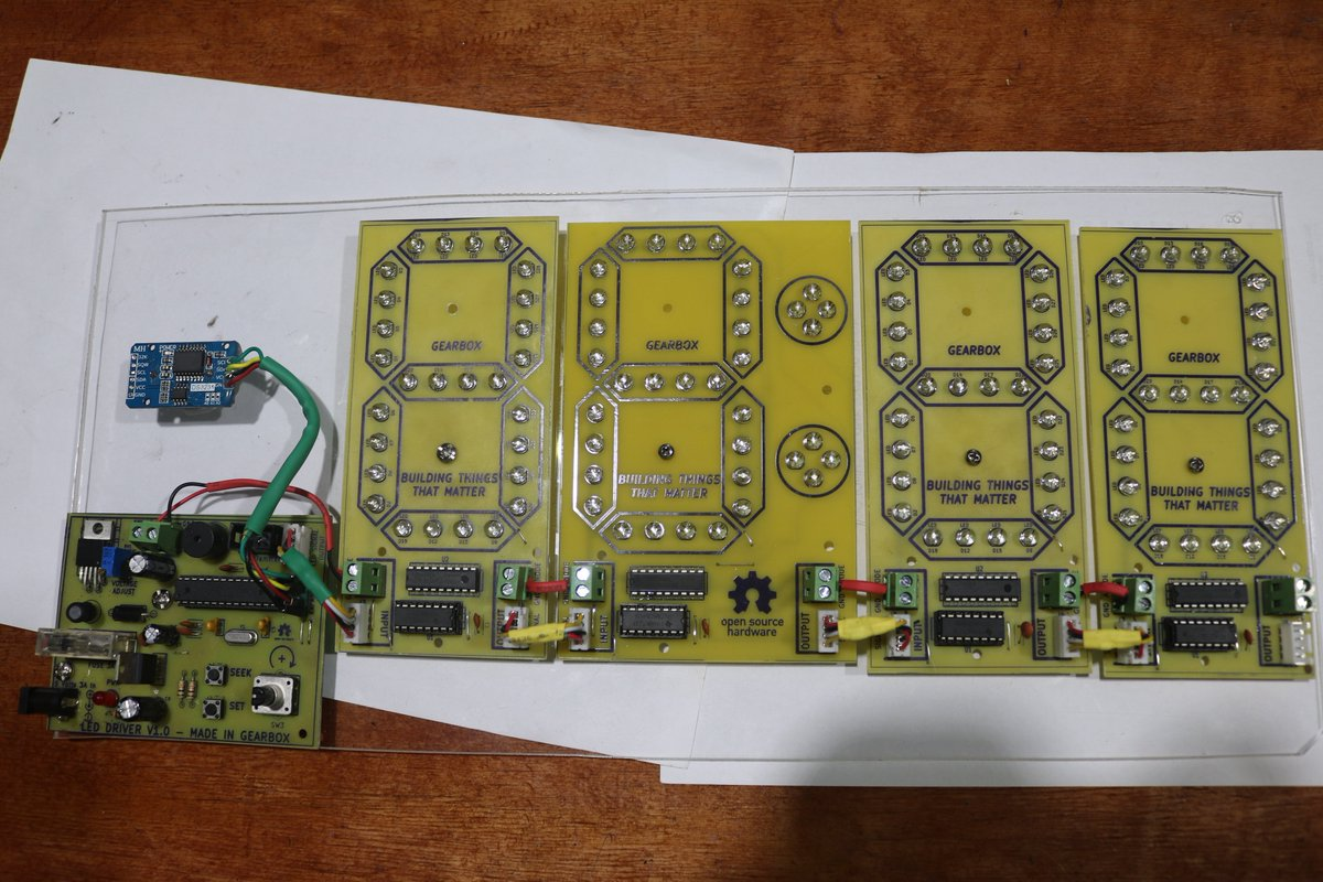 Gearbox On Twitter Learn How To Build Fabricate And Program A Circuit Board Images Of Boards This Is An Led Wall Clock Designed Programmed Fabricated At