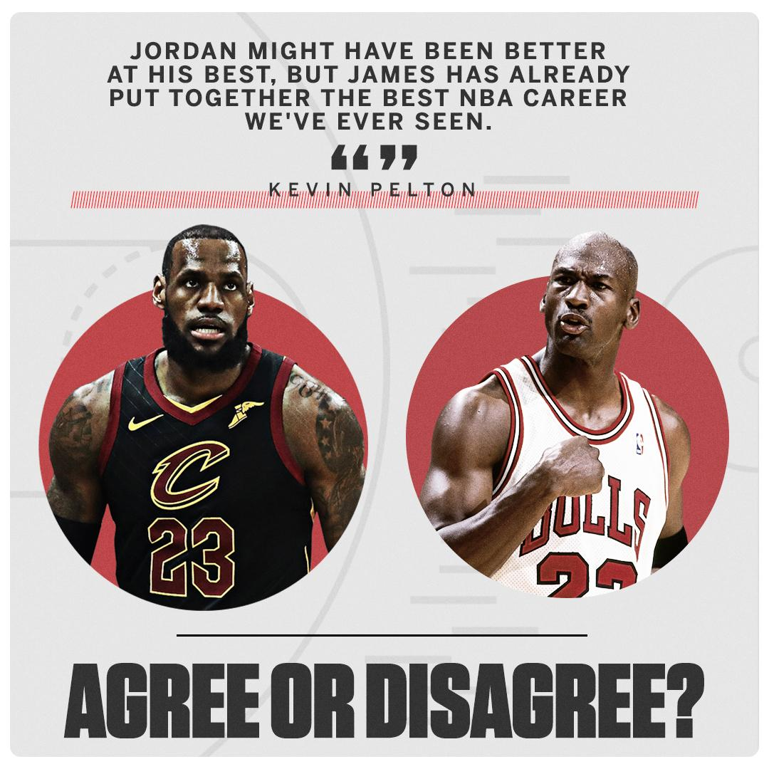 Time to weigh in. ⬇️  See our full MJ vs. LeBron breakdown: https://t.co/5OiuZHT7mm https://t.co/XBKOYadqNT