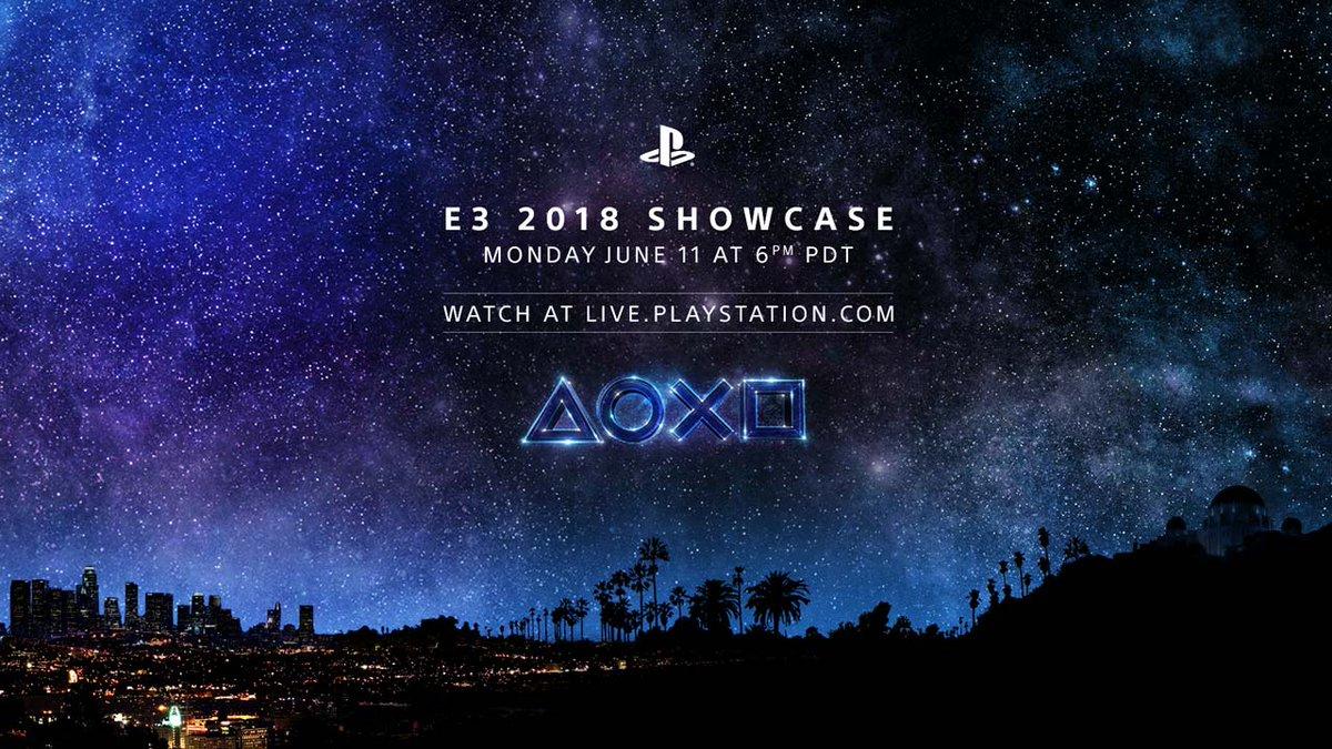 Sony PlayStation E3 2018 Showcase