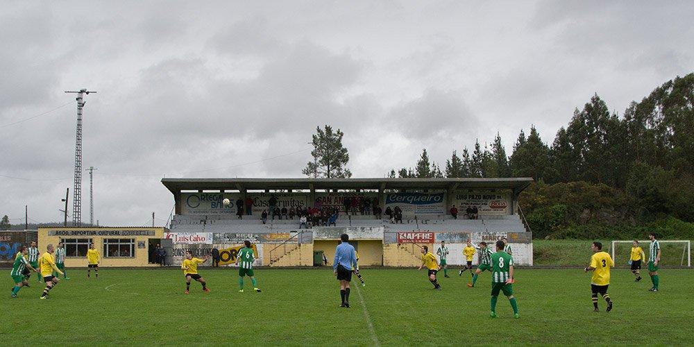 ADR Numancia de Ares. Campo Municipal de Moeche. El Numancia lo visitará el próximo domingo en la eliminatoria de Copa.
