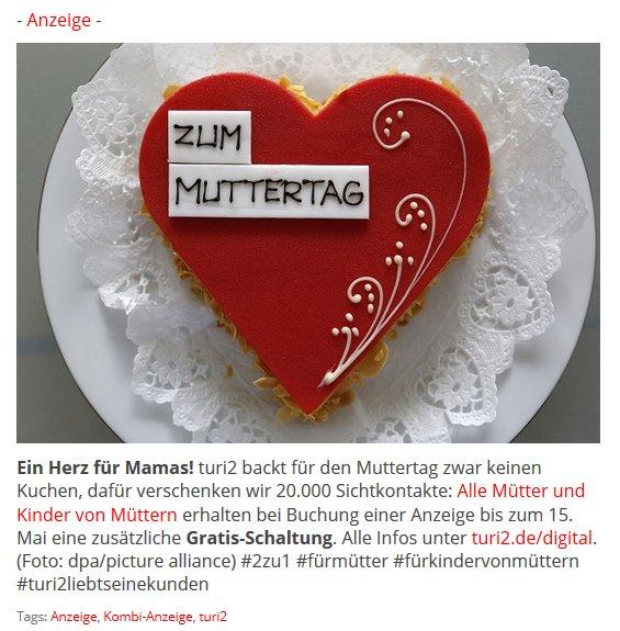 Turi2 On Twitter Anzeige Ein Herz Fur Mamas Turi2 Backt Fur Den