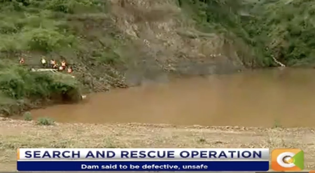 Search for missing persons continue  kdf begin pumping water