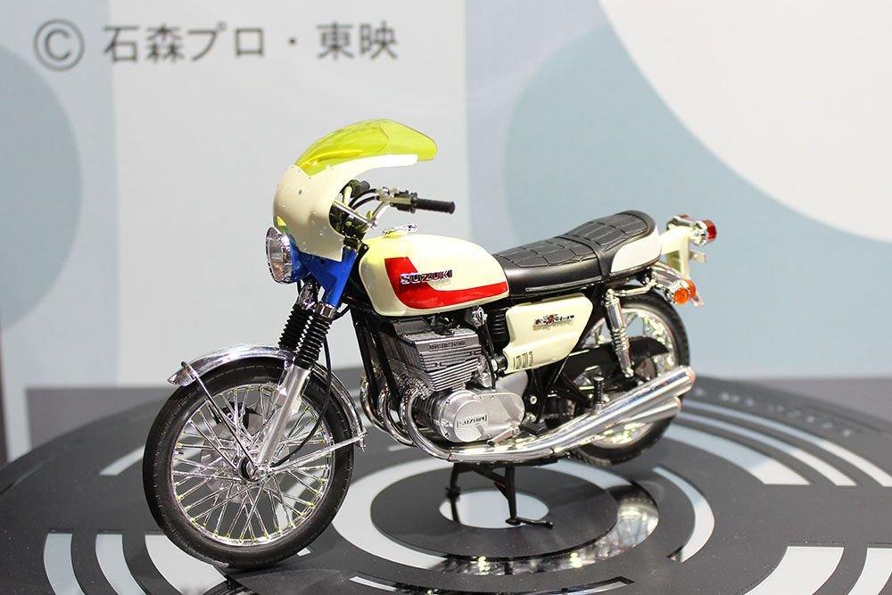 ハセガワ 仮面ライダー 本郷猛のバイク スズキ GT380 B プラモデル SP377に関する画像9