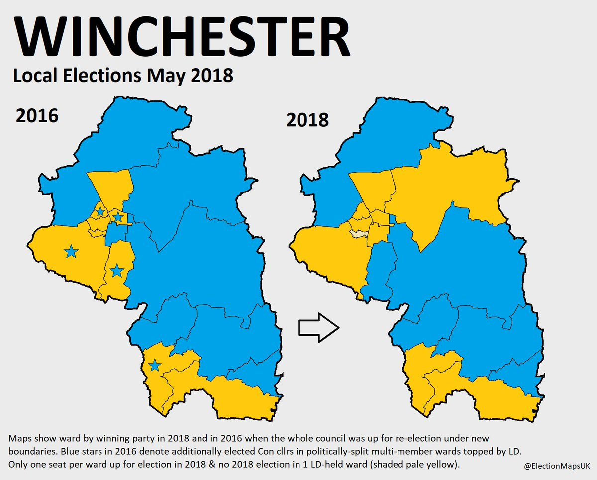Election Maps Uk On Twitter So The Le2018 Result In Winchester