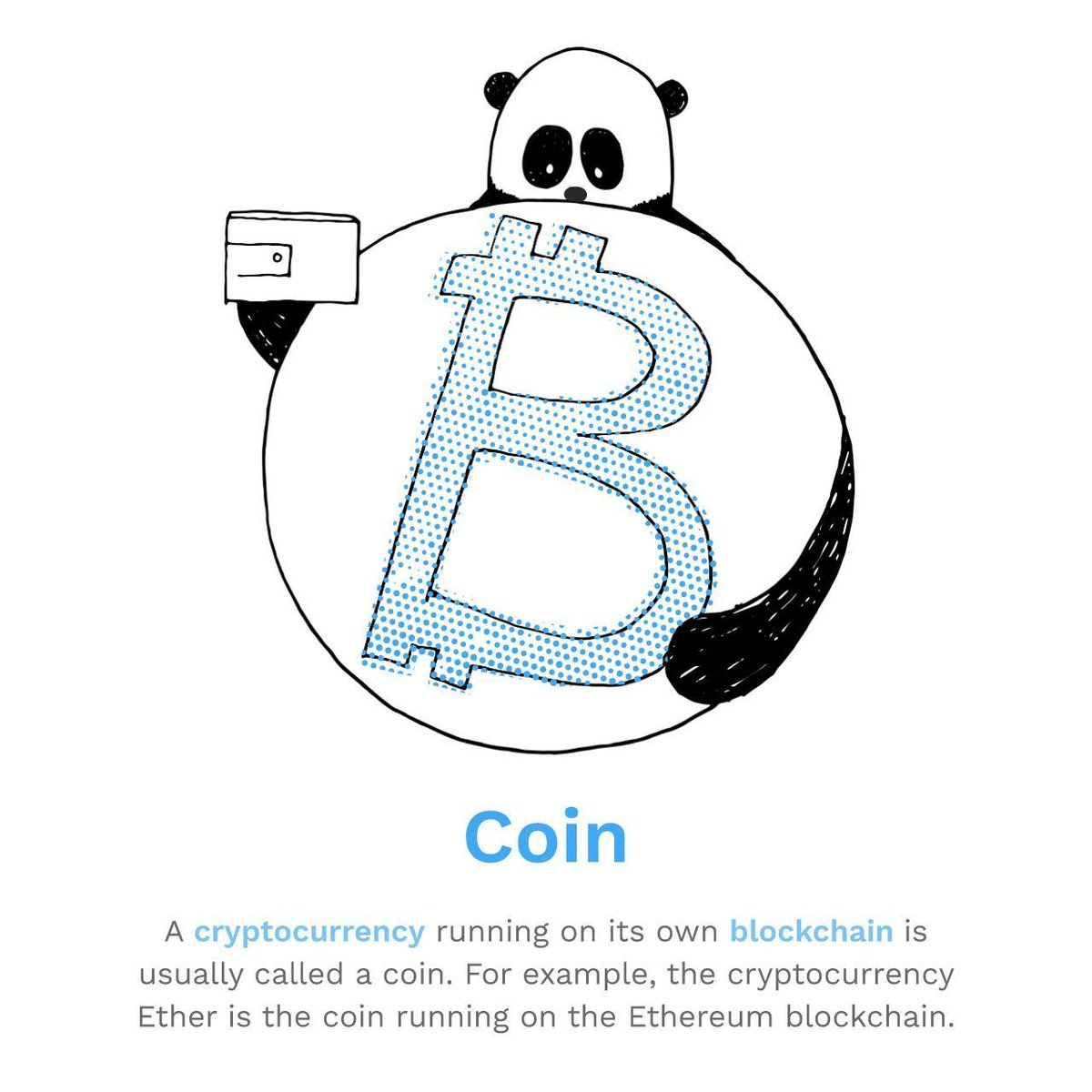 C is for Coin! Do you know your coins from your tokens? In our ongoing series you will learn the most important terms about Bitcoin and Blockchain #bitpanda #blockchain #coin