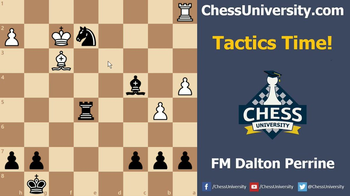 Chess instruction is thought to improve childrens cognitive & academic skills. These Chess Tactics Time #7 With FM Dalton Perrine will help you more, watch it at >>>> #ChessUniversityOnline #LearnChess #KairavJoshi #trainingvideos #learningchess goo.gl/zsHF2Z