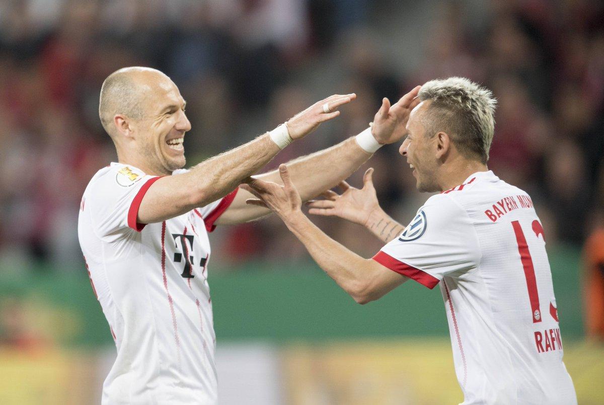 Arjen Robben et Rafinha