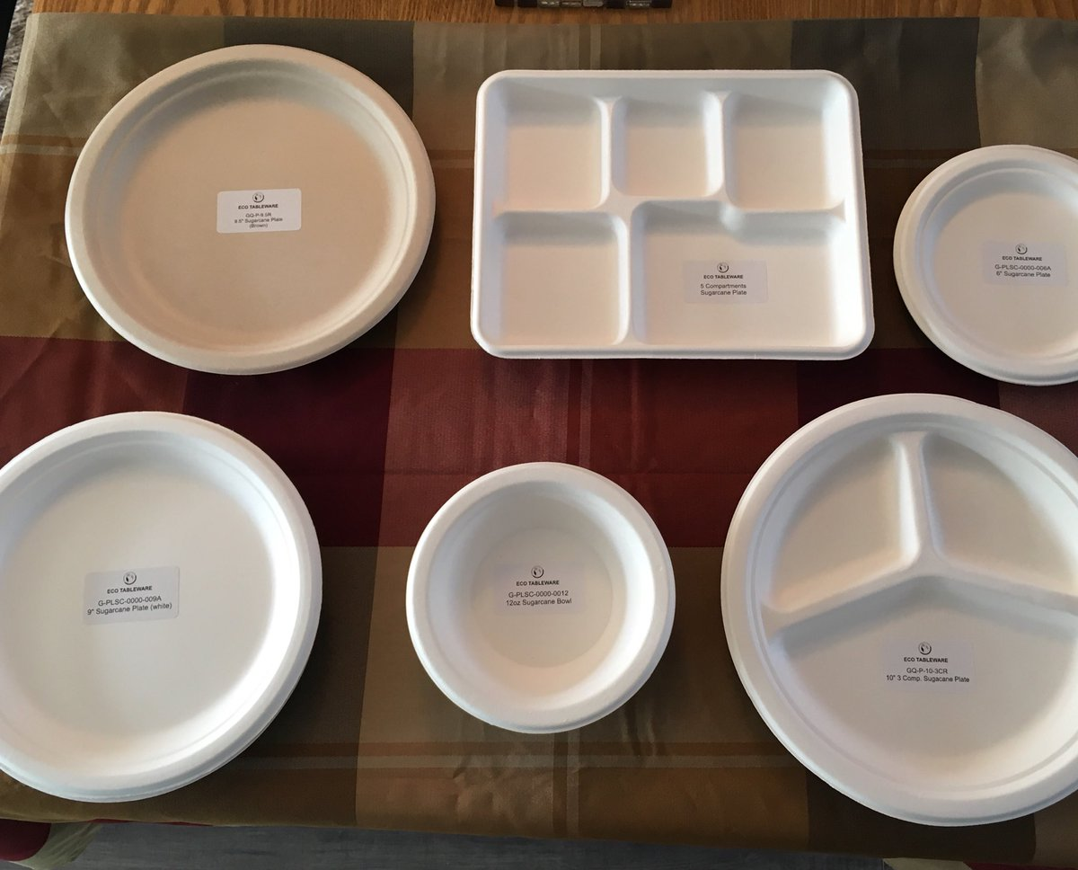 Eco Tableware by Penny on Twitter  These disposable plates and bowls are made from sugar cane!! They are strong and economical. & Eco Tableware by Penny on Twitter: