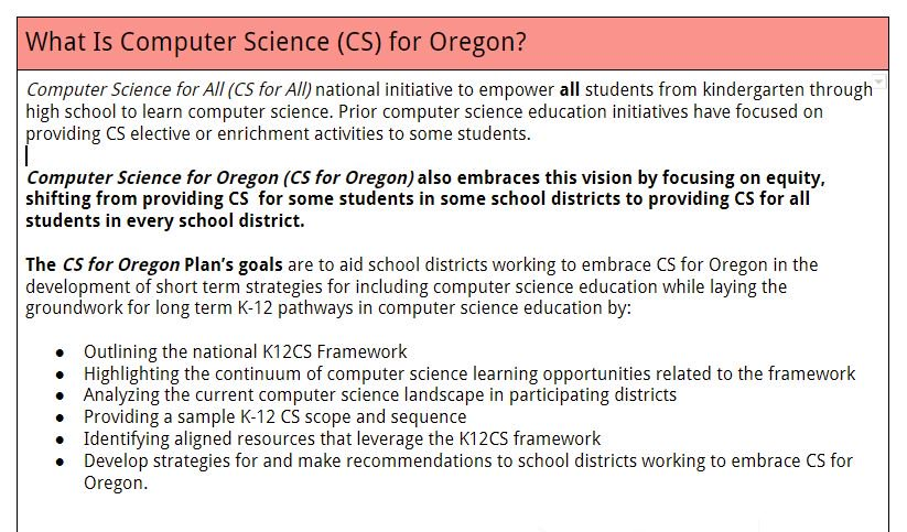 Oregon CSTA on Twitter: