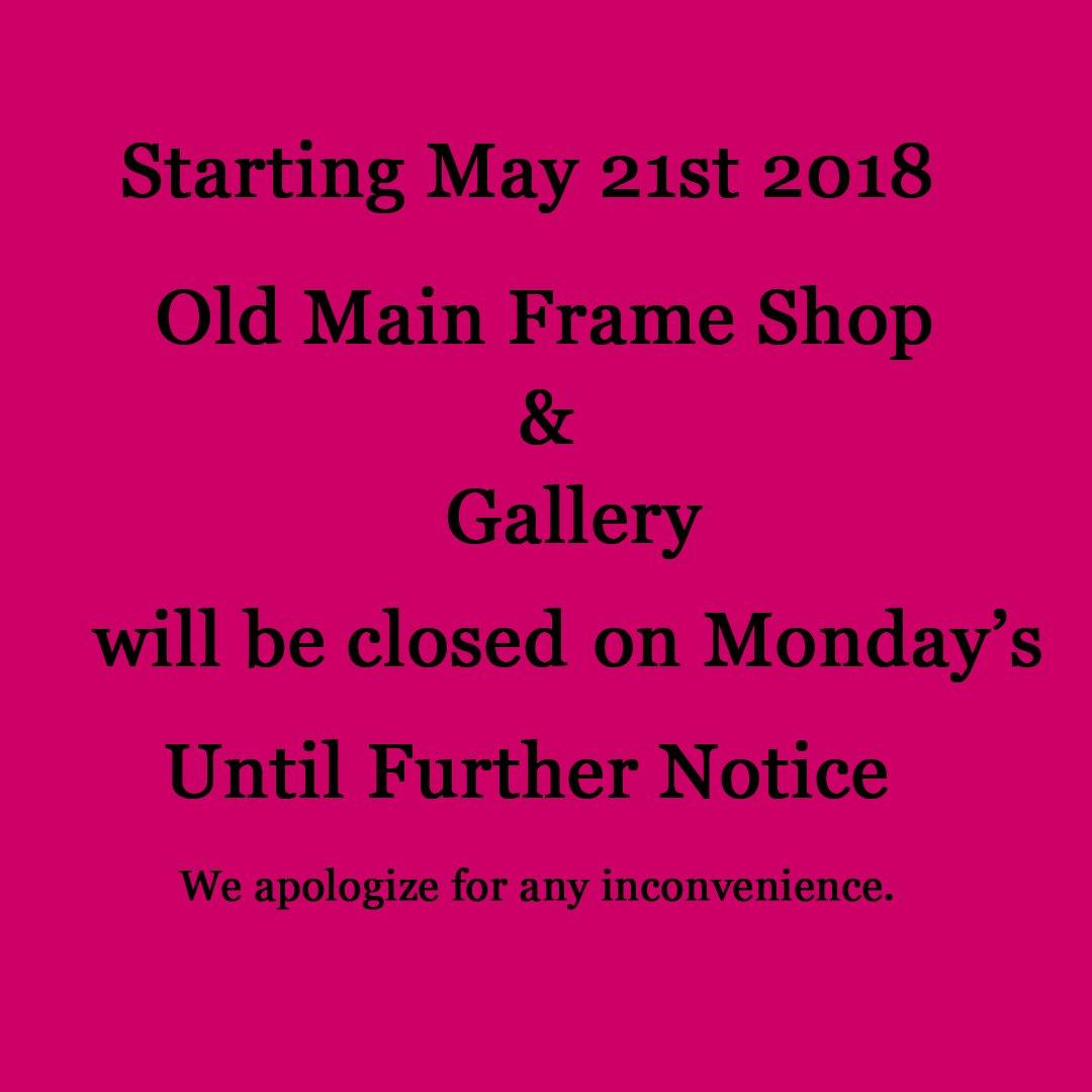 Old Main Frame Shop (@omfs136) | Twitter