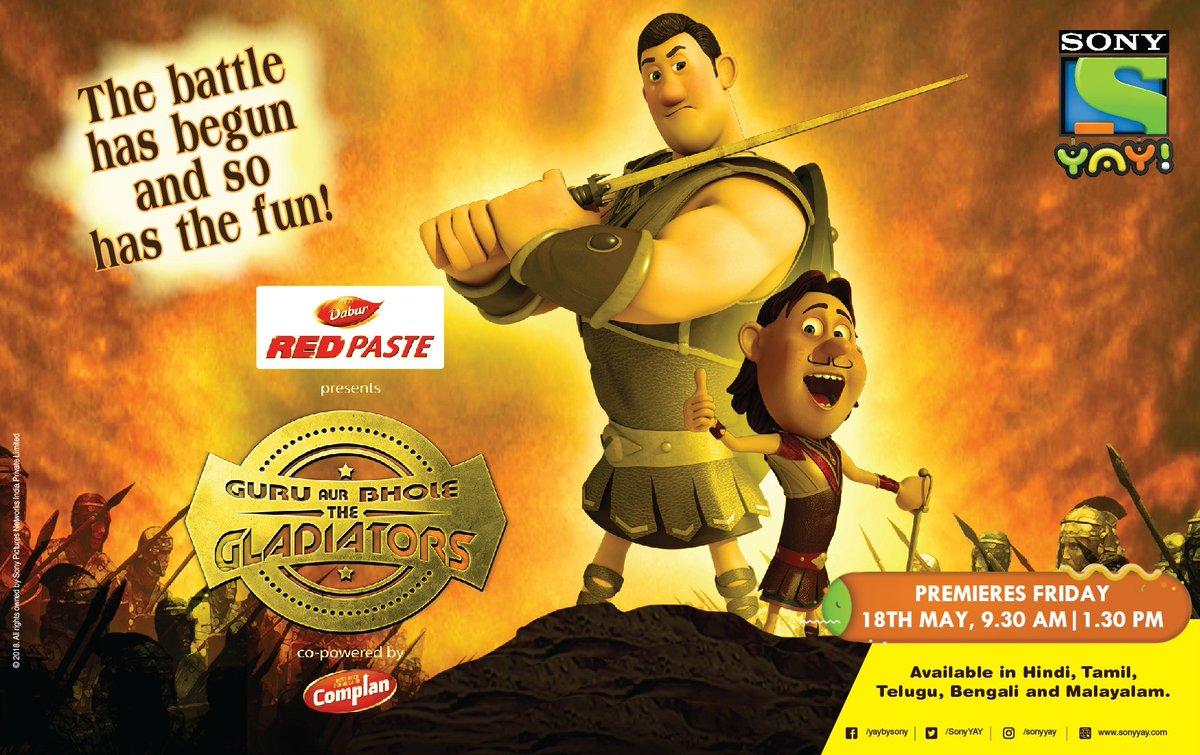 Guru and Bhole as Gladiators (2018) 720p  HDRip  [Hindi+ Tamil + Telugu]  700MB