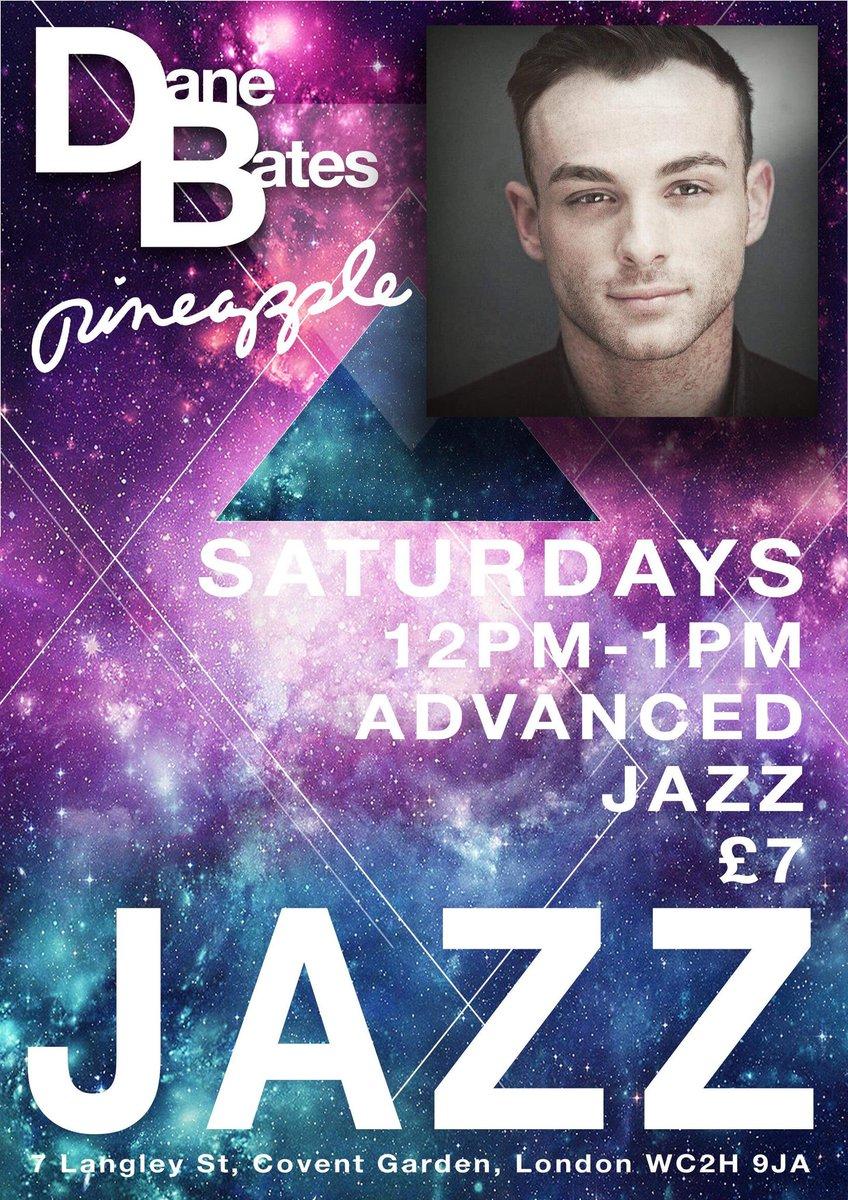 Starts tomorrow 12/05! *New* Jazz dance class with @BatesDane | Saturdays 12-1pm | Advanced Come and say 'Hey!' 🍍 http://www.pineapple.uk.com/dane-new-class