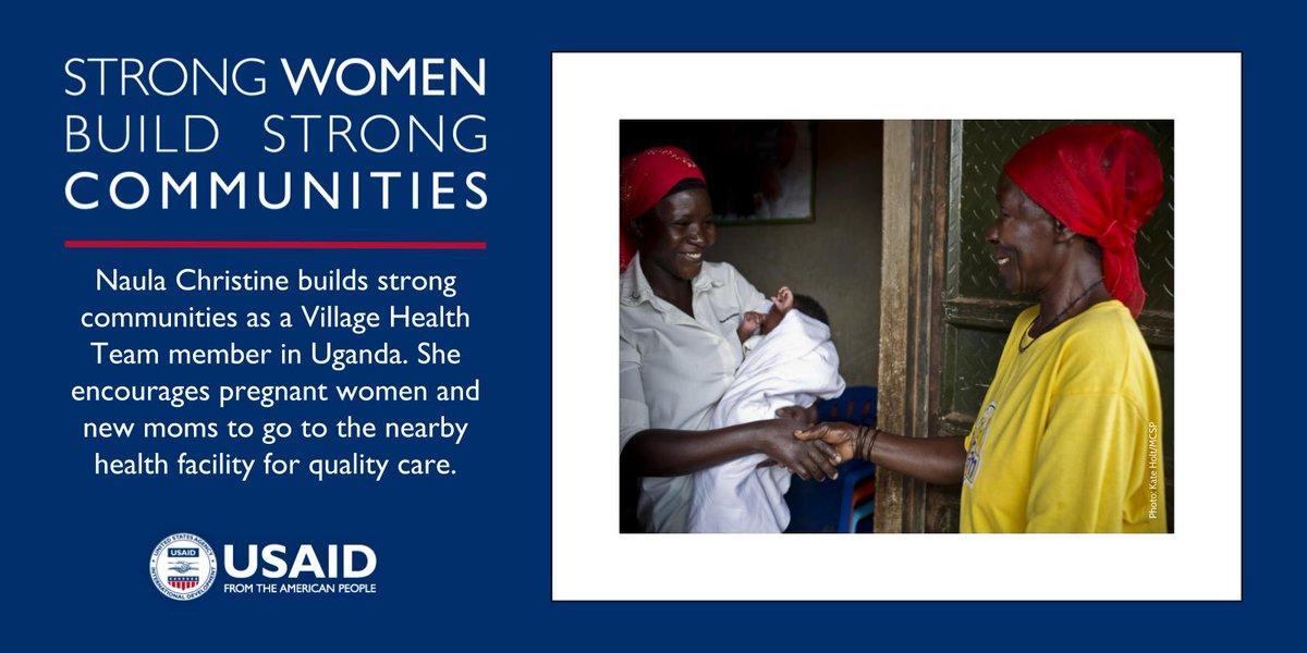 Strong women like Naula Christine build strong communities! #MothersDay #USAIDTransforms