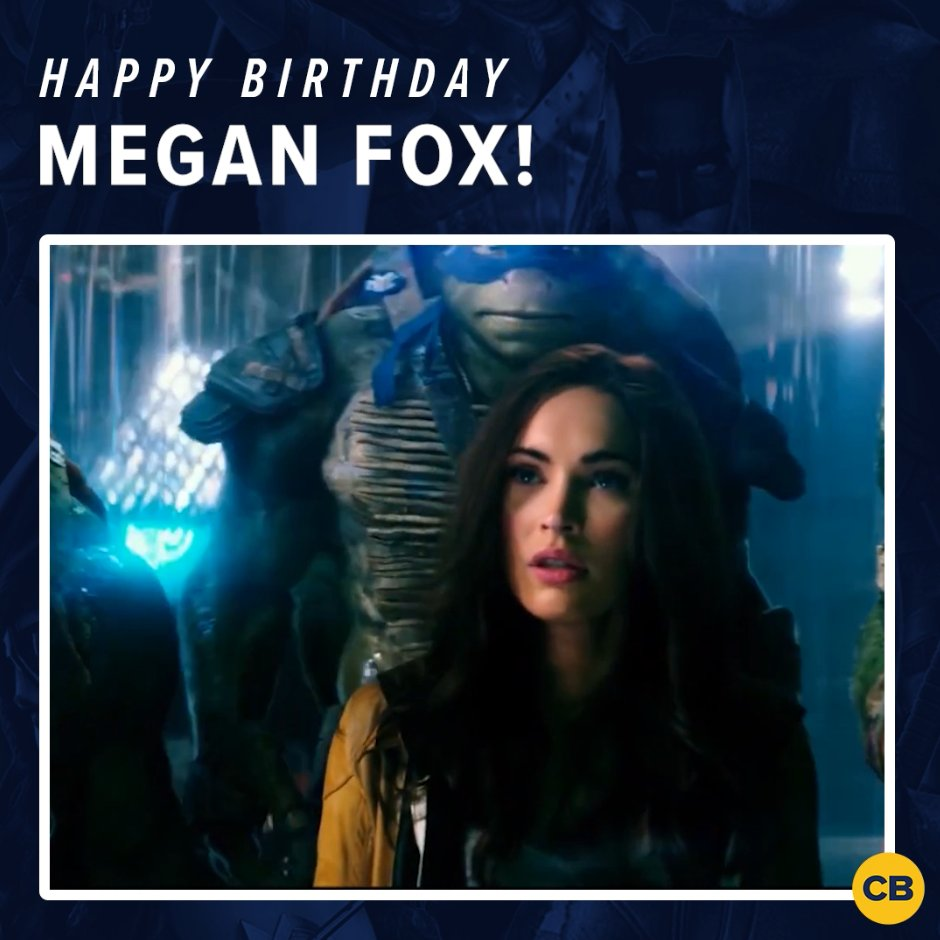 Happy birthday to #Transformers and #TMNT star, #MeganFox!