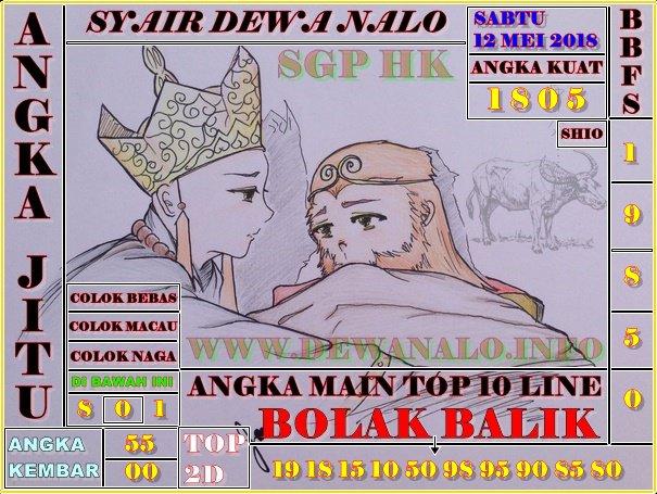 Syair Dewa Nalo Sabtu 12-05-2018