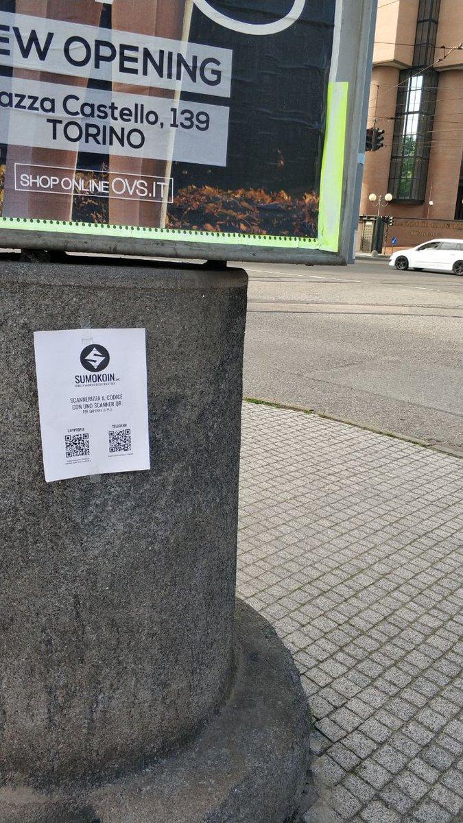 Spreading some love in Turin - Italy and Bucharest - Romania... Go $Sumo  !!!! #sumokoin $btc #cryptocurrencies #Anonymouspic.twitter.com/LI0FUStGV3