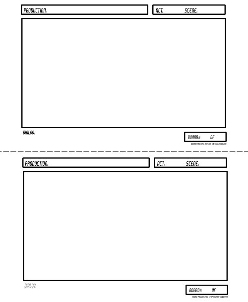 Stopmotionmagazine On Twitter New Storyboard Template Available At