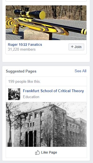 I have questions about these Facebook suggestions.