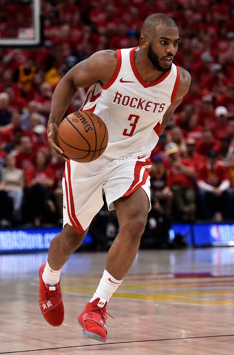 Chris Paul averaged 24.6 PPG, 48.4 FG%, 44.1 3P%, 7 RPG, 6.2 APG, and 2.2 SPG in this years Western Conference Semi-Finals for the @HoustonRockets.   on.nba.com/2IbKb4g