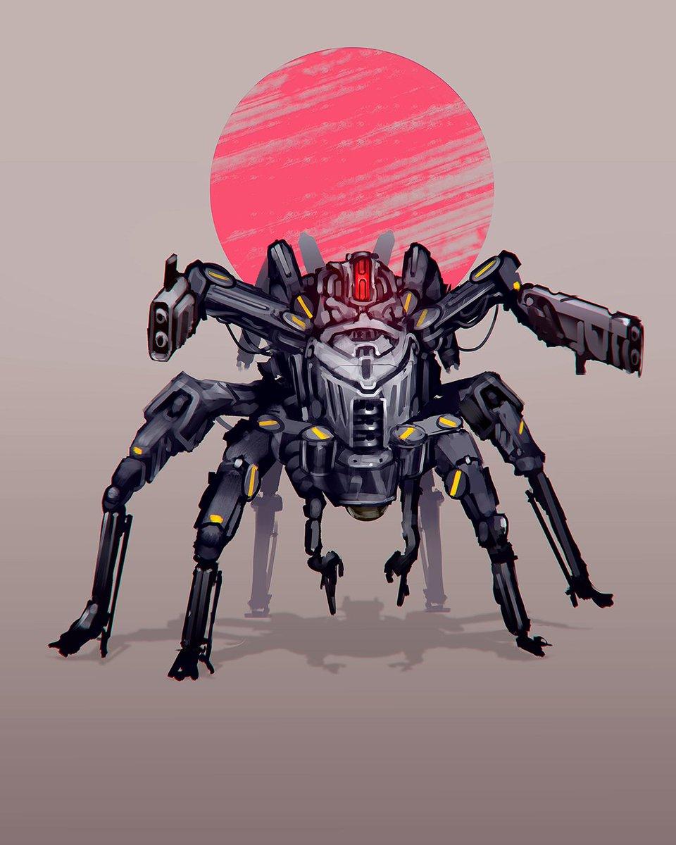 #MaySketchaDay Day 7: a Spiderbot.