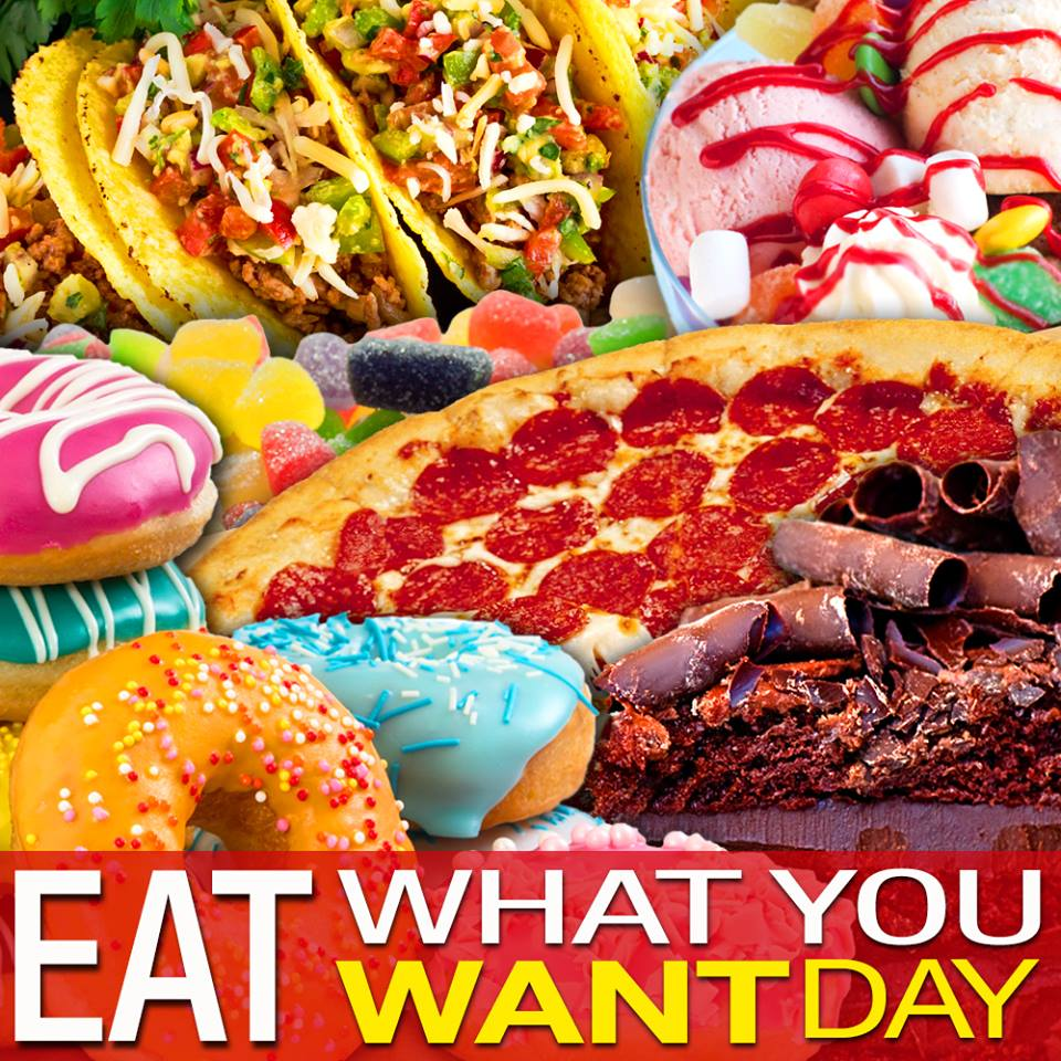 "Eat What You Want Day: Local News 8 On Twitter: ""It's National Eat What You Want"