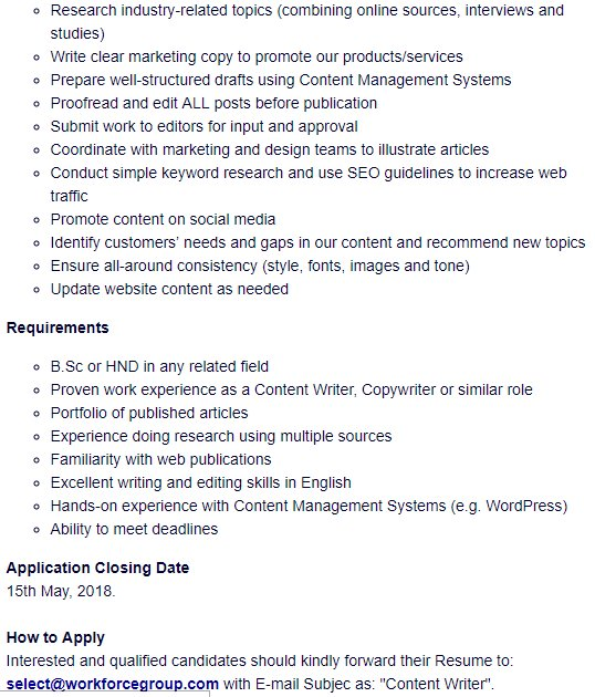 Get A Job Here Pa Twitter Content Writer At Workforce Group