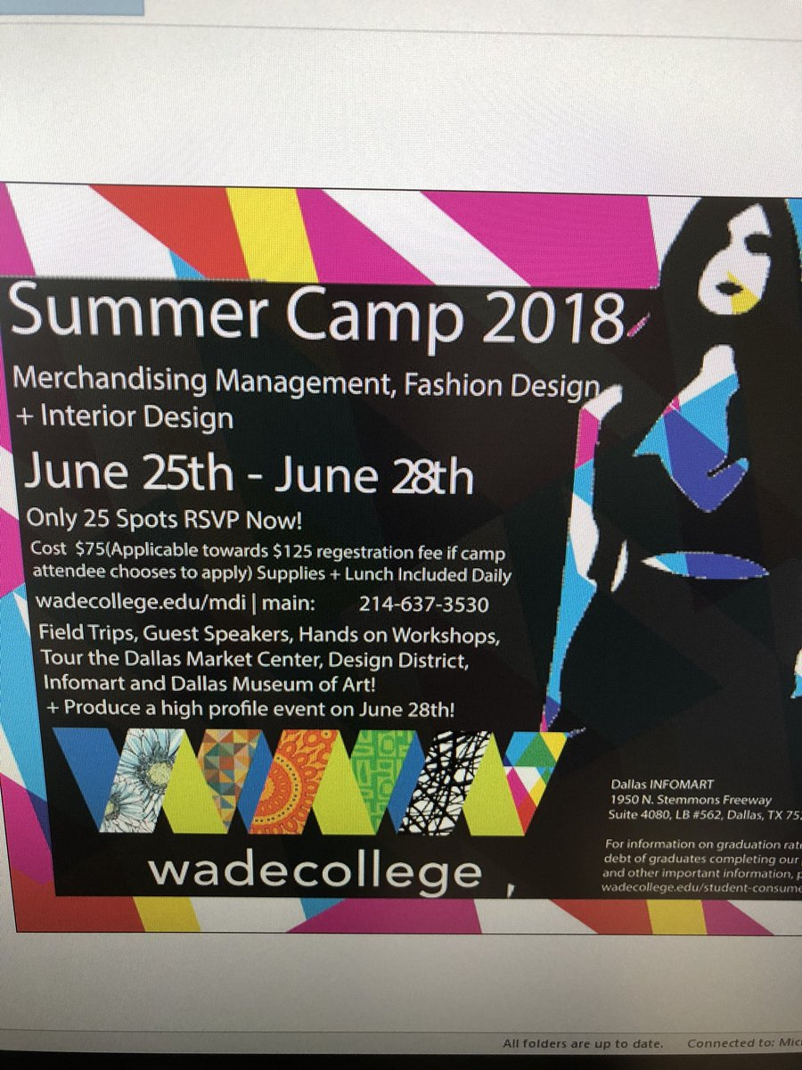 Gilbreath Reed Ctc On Twitter Wade College Gave 3 Fashion Design Interior Design Summer Camp Scholarships And 3 It Boot Camp Scholarships To Grctc Students College Career Life Wadecollege Choosegarlandisd Https T Co Oxtgxpxfkv
