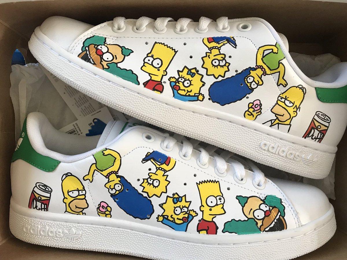 huge selection of 51638 63016 Smile Custom у Твіттері: «Adidas Stan Smith | THE SIMPSON ...
