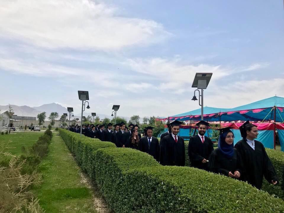 Today was an overwhelmingly emotional day, I couldnt hold back my tears as @AUAfghanistan class of 2018 walked down the graduation aisle. Alongside their identical caps and gowns, they all have sth else in common, they signify a generations fight for education n empowerment.