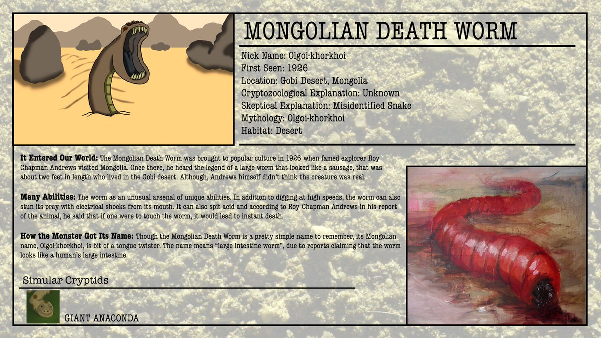 mongoliandeathworm hashtag on Twitter