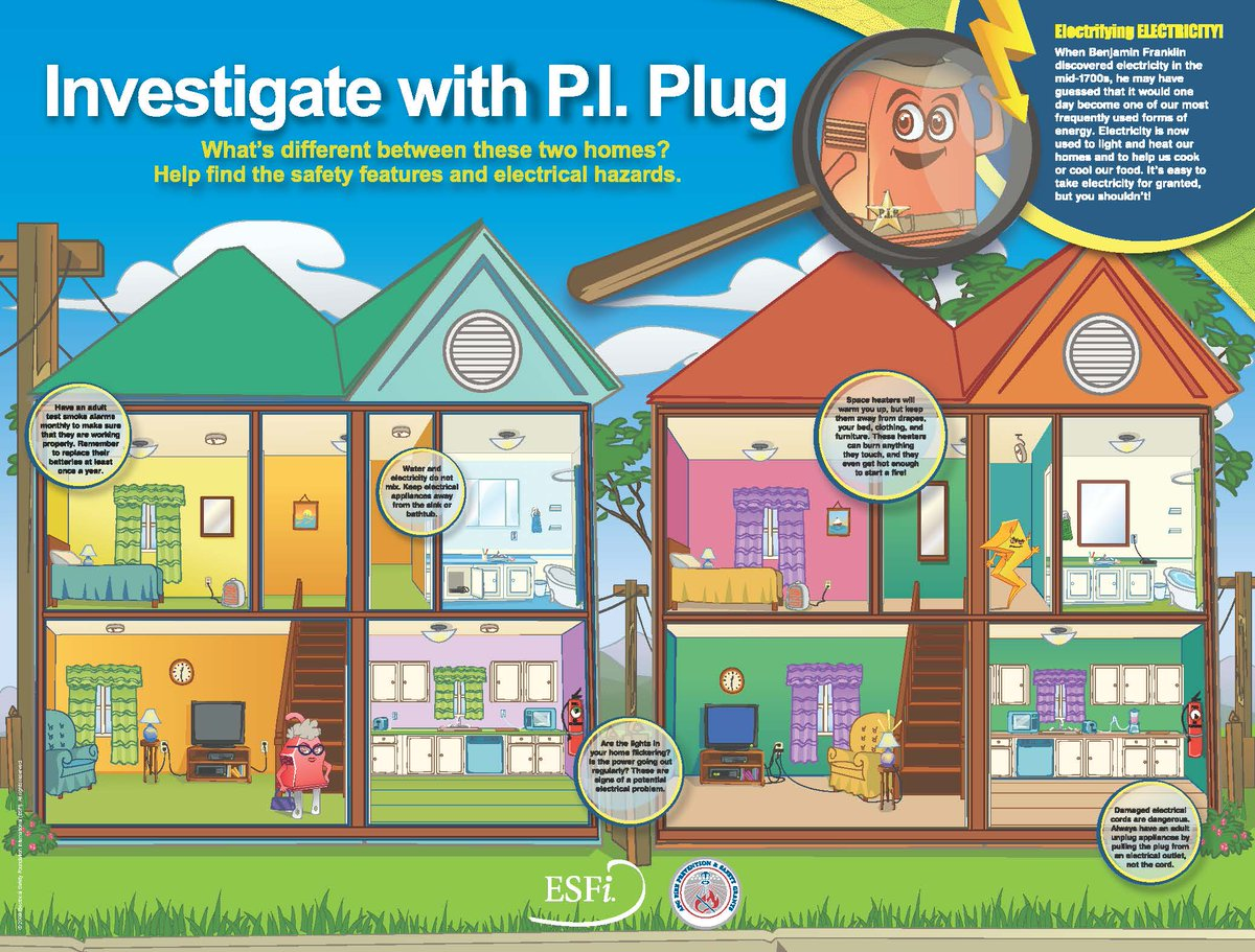 Cal Fire Riverside On Twitter May Is National Electrical Safety Electricity In The Home Month Help Your Children Find Dangers Picture Below Fore More Information