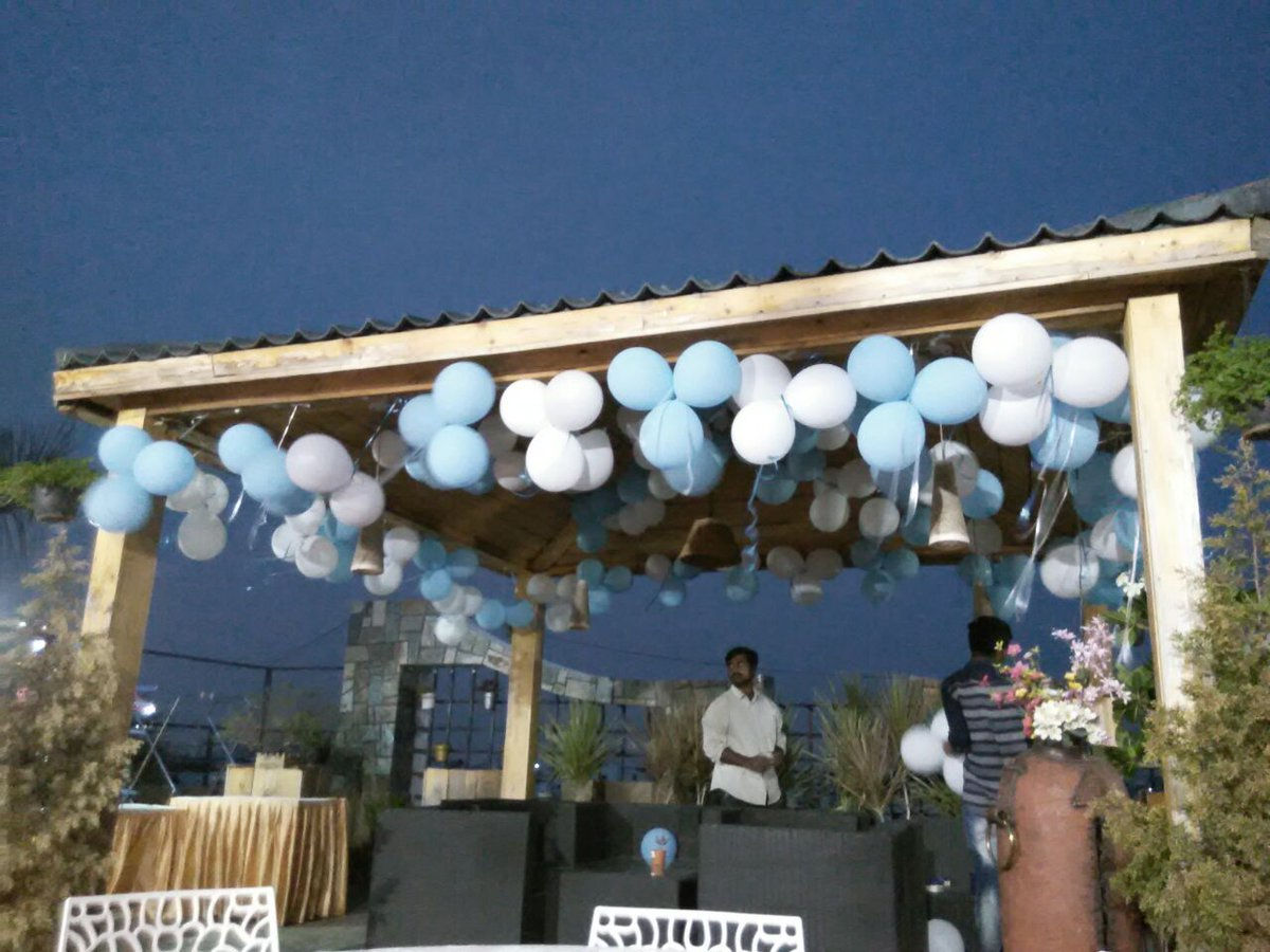 Balloons Unlimited Himayathnagar A Twitter Beautiful Evening Of A Sunny Summer And The Terrace Birthday Celebration With Our Lovely Decoration Look At Balloon Colors As White As Peace As Blue As Sky
