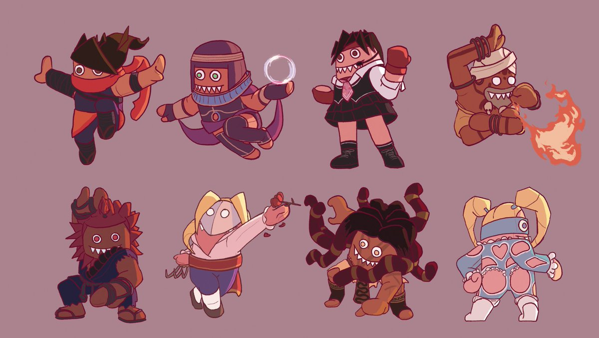 Welcome to plush fighter 5 can be bought as individual stickers sheets or as a print if you want the whole lineup of 34 streetfighter sfv