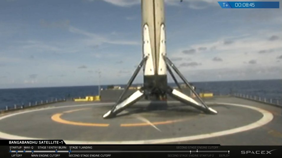 Falcon 9 Block 5 first stage has landed on the Of Course I Still Love You droneship.