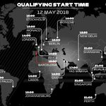 QUALIFYING START TIMES ⏰Another crucial qualifying Saturday is almost upon Here's what time it starts where you are 🌍