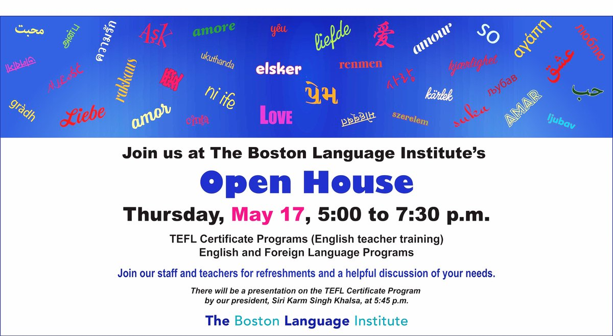 Boston Language On Twitter Open House Thursday May 17th 5 To 7