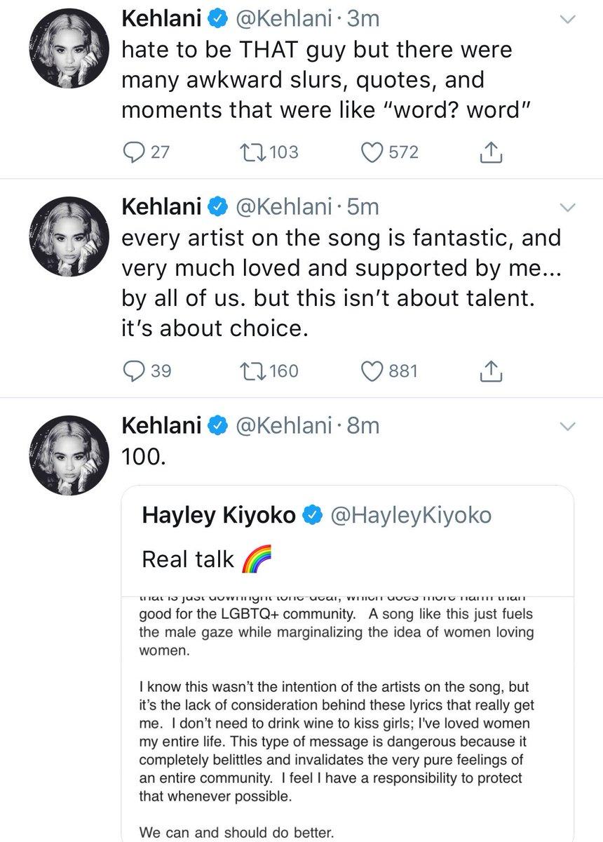 Kehlani Says Rita Ora, Bebe Rexha, Charli XCX & Cardi B's