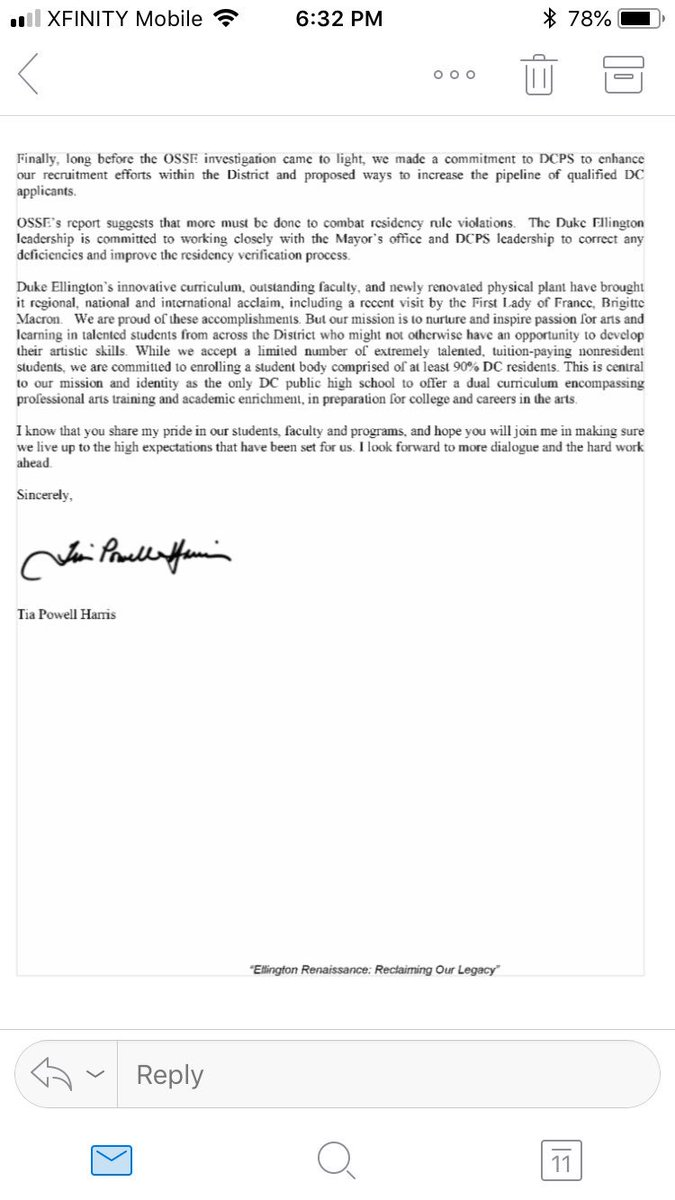 Martin Austermuhle On Twitter The Ceo Of The Non Profit That Operates Duke Ellington School Of The Arts Which Is A Dcps School But Independent Operated Writes In A Letter To Parents That