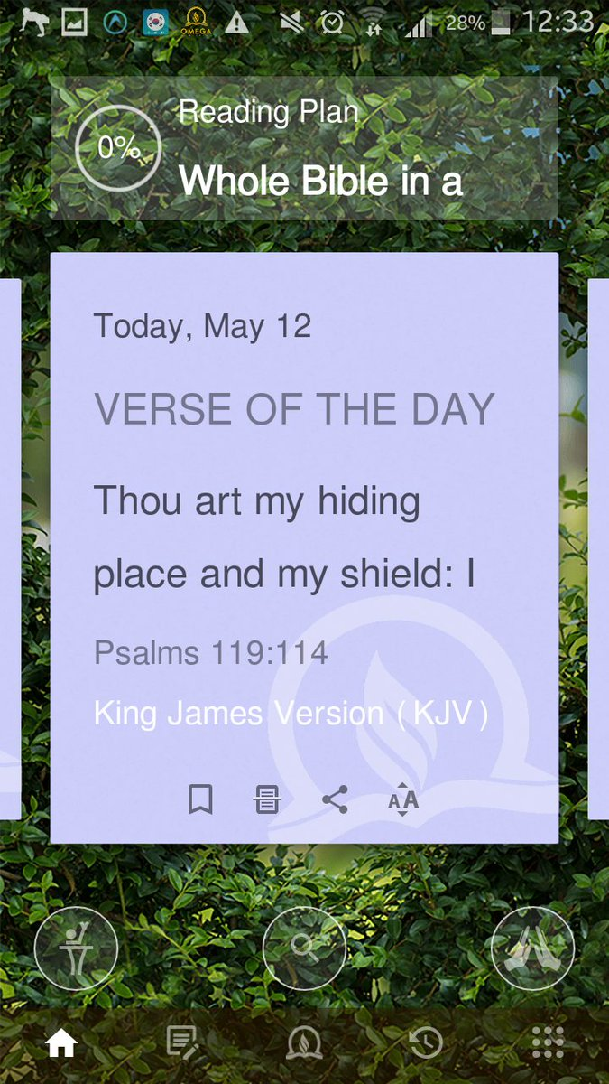 ... hiding place and my shield: I hope in thy word. Psalms 119:114  #OmegaDigibible Download the Omega DigiBible today: Play Store:  https://goo.gl/vQXuZk App ...
