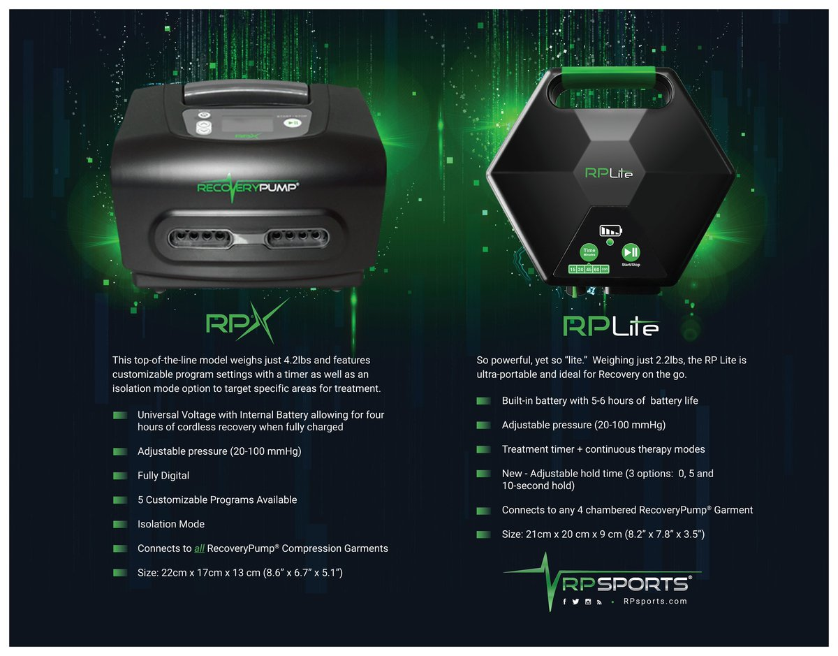 Use The Rp Lite For Our 4 Chambered Garments Rpx Or 8 Both Pumps Run On Battery And Are Awesome Recoverypumppic Twitter