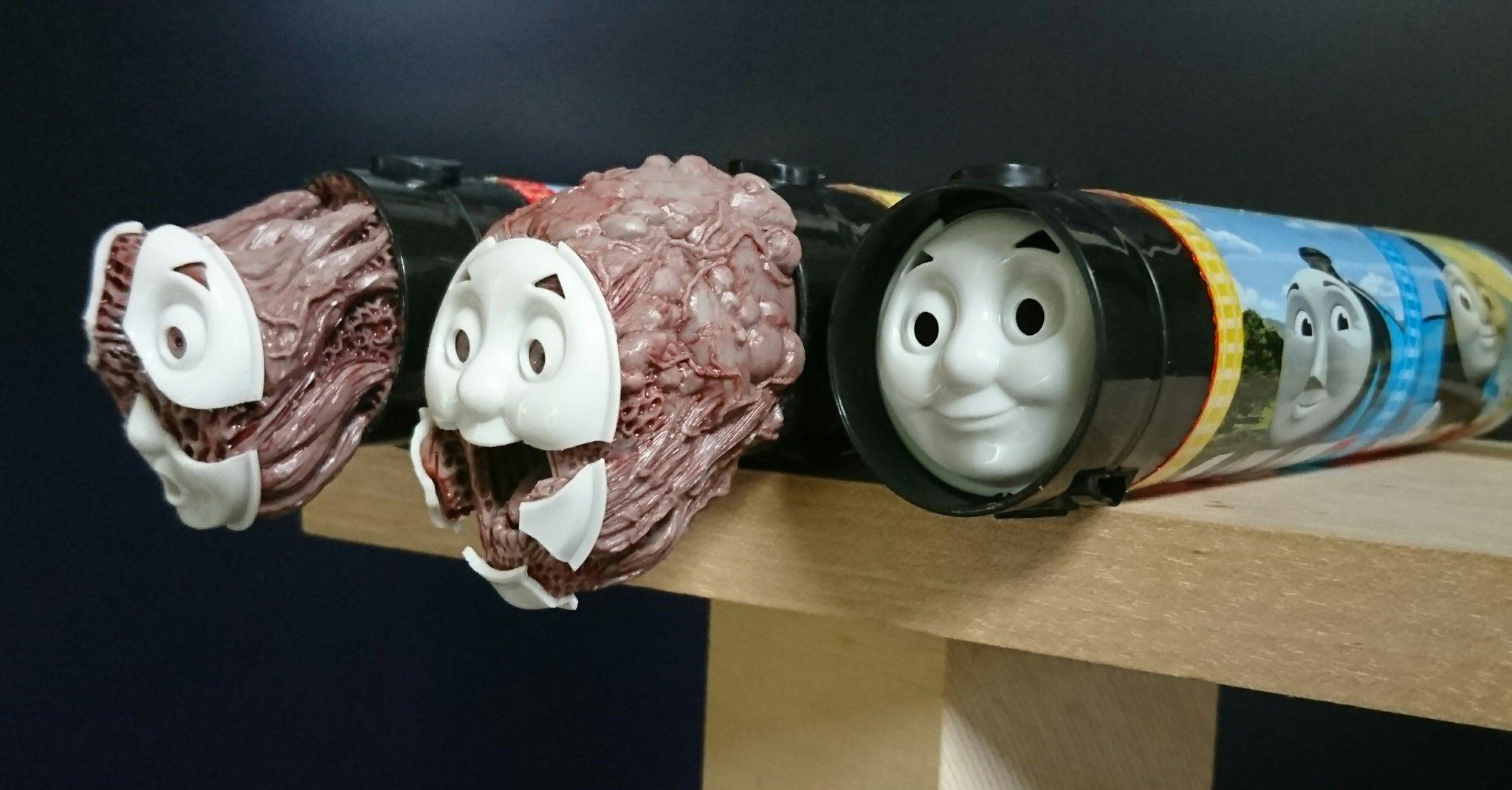 いや怖すぎだろww誰も乗ってくれなさそうなトーマスの魔改造ww