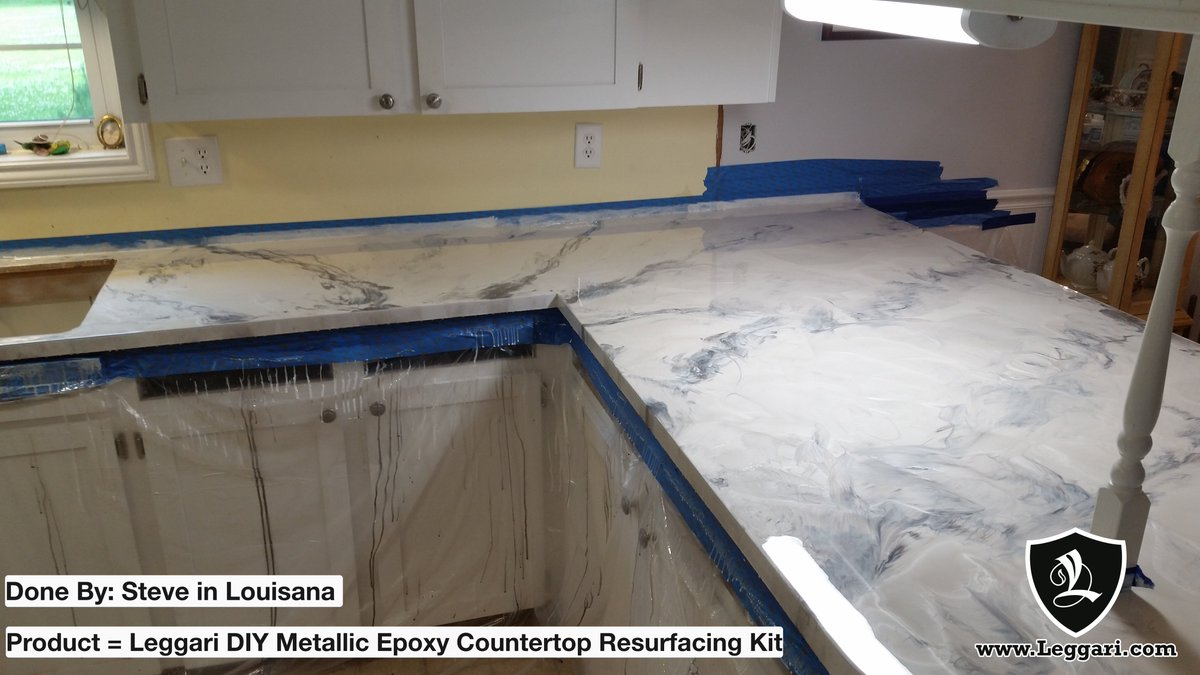 Leggari Products On Twitter Steve Updated His Laminate Countertops To Epoxy Resin We Love Your Modern Updated Countertops Steve It S Never Too Late To Update Those Laminate Countertops Take Some Time