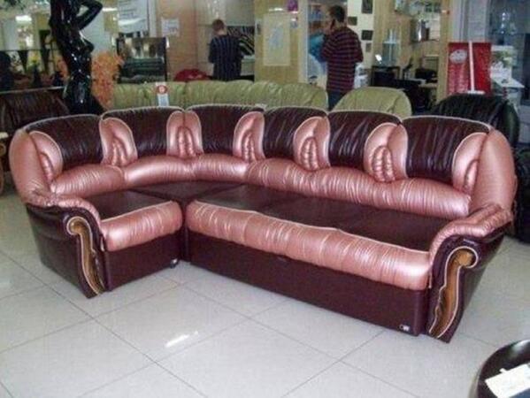 Leather sofa poke