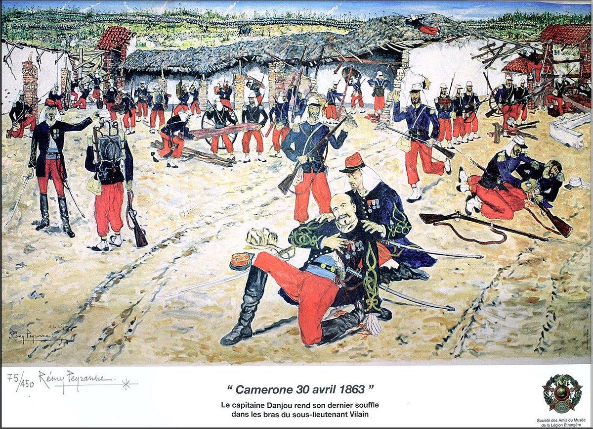 """𝓒𝓱𝓻𝓸𝓷𝓸𝓕𝓲𝓵 🏰 on Twitter: """"30 avril 1863 : bataille de #Camerone au Mexique ; la compagnie du capitaine Danjou résiste héroïquement pendant plus d'1 journée à une armée de 2000 Mexicains. La"""