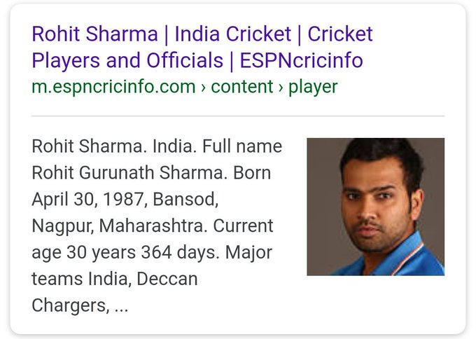 DID YOU KNOW? Rohit Sharma was born at a place called \Bansod\?. Happy Birthday RoHITman Sharma!
